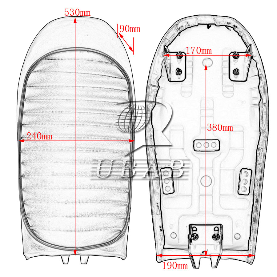Cafe Racer Retro Locomotive Refit Motorcycle Seat Leather Waterproof 1969 Cb175 Wiring Diagram Usa Hump Black
