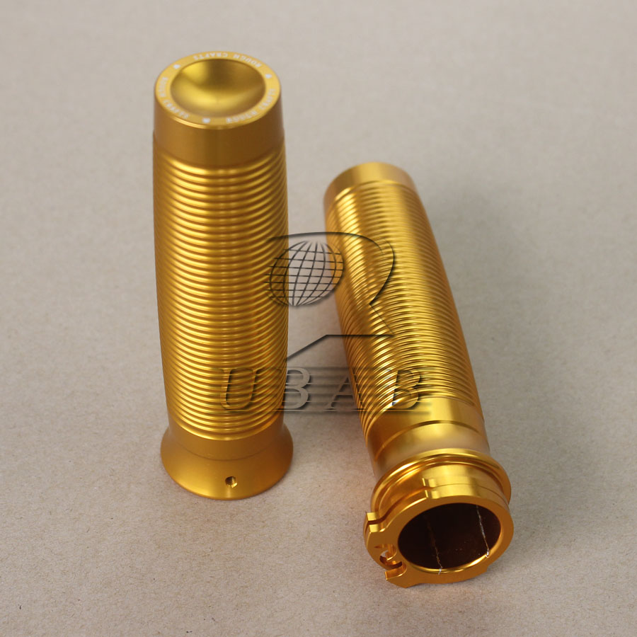 """Golden Rough Crafts 1"""" Handlebar Grips F Harley Sportster XL1200 883 Forty-Eight"""
