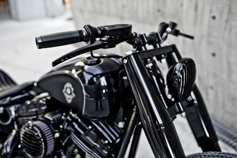 """Black Rough Crafts 1"""" Handlebar Grip For Harley Sportster XL1200 883 Forty-Eight"""