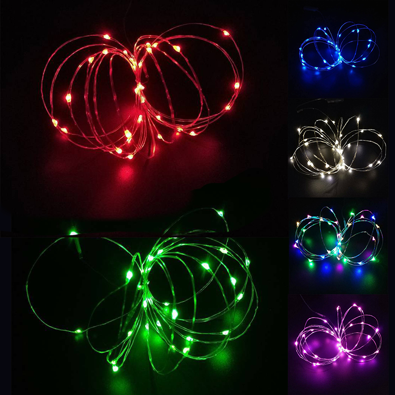 LED Battery Micro Rice Wire Copper Fairy String Lights Party Colorful