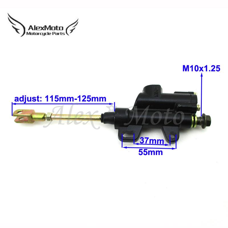 Rear Brake Master Cylinder Pump for 110cc 125cc 140cc Dirt Pit Bike ATV SSR Taot