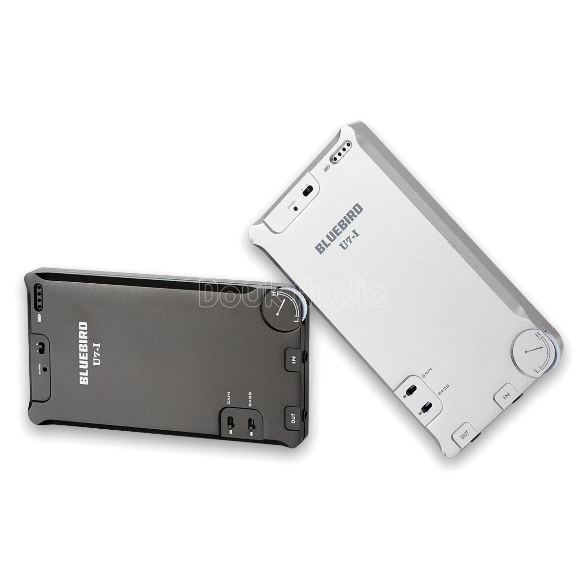 Ultra Slim Portable Hifi Headphone Amplifier Stereo Amp Gain Bass Hi Fi Black Silver