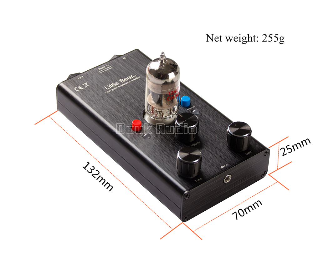 Mini  Röhrengitarren Kopfhörerverstärker Guitar Effect Pedal Tube Headphone Amp