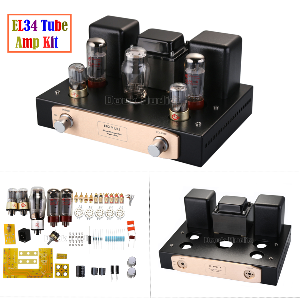 EL34 Vacumm Tube Amplifier Single-ended Class A Stereo ...