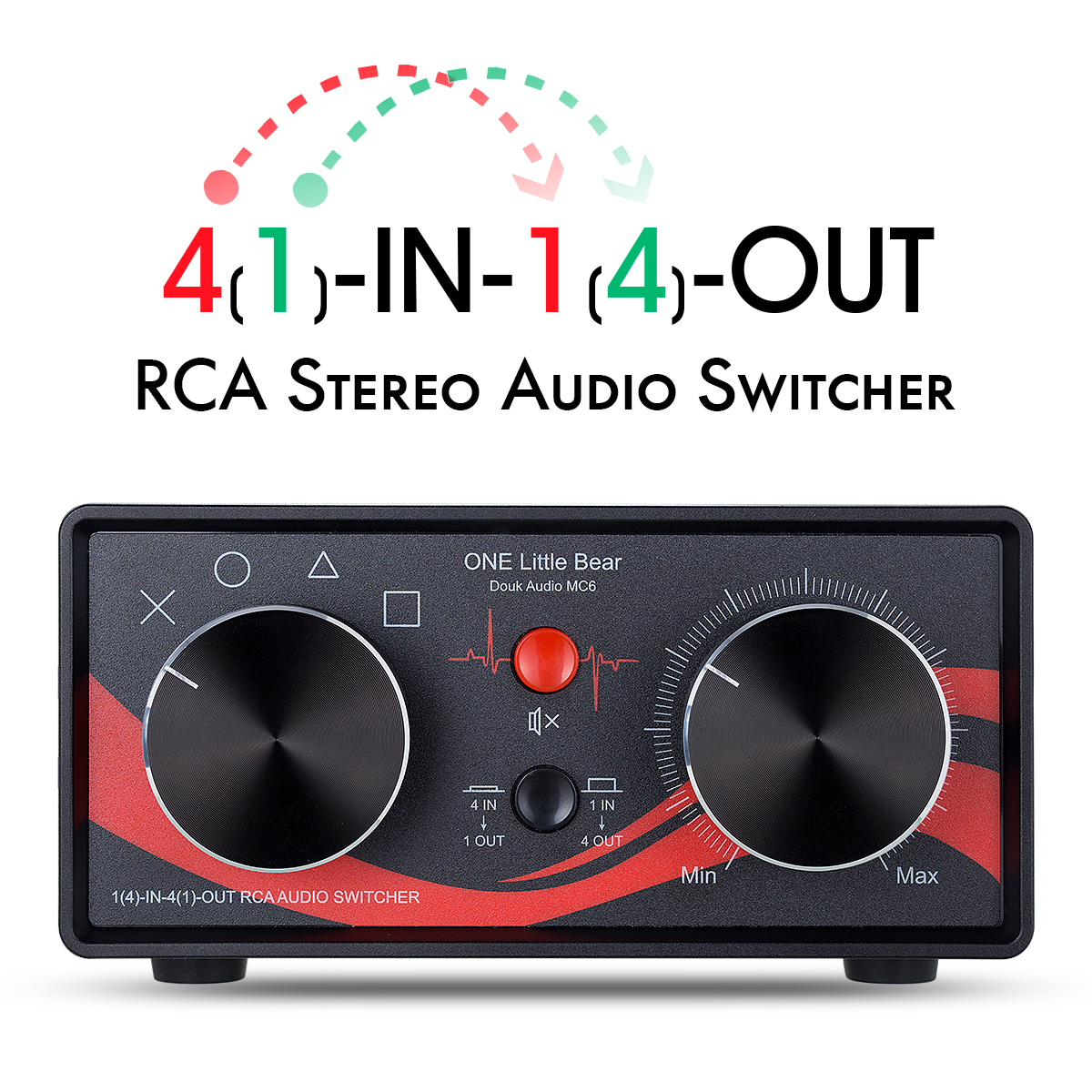 Switcher NEW Stereo Audio 1 In 4 Out Splitter