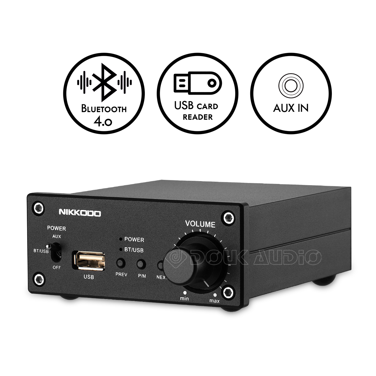 0cc25aabb4423b Details about Mini Digital Power Amplifier Bluetooth Stereo Amp HiFi USB  Lossless Music Player