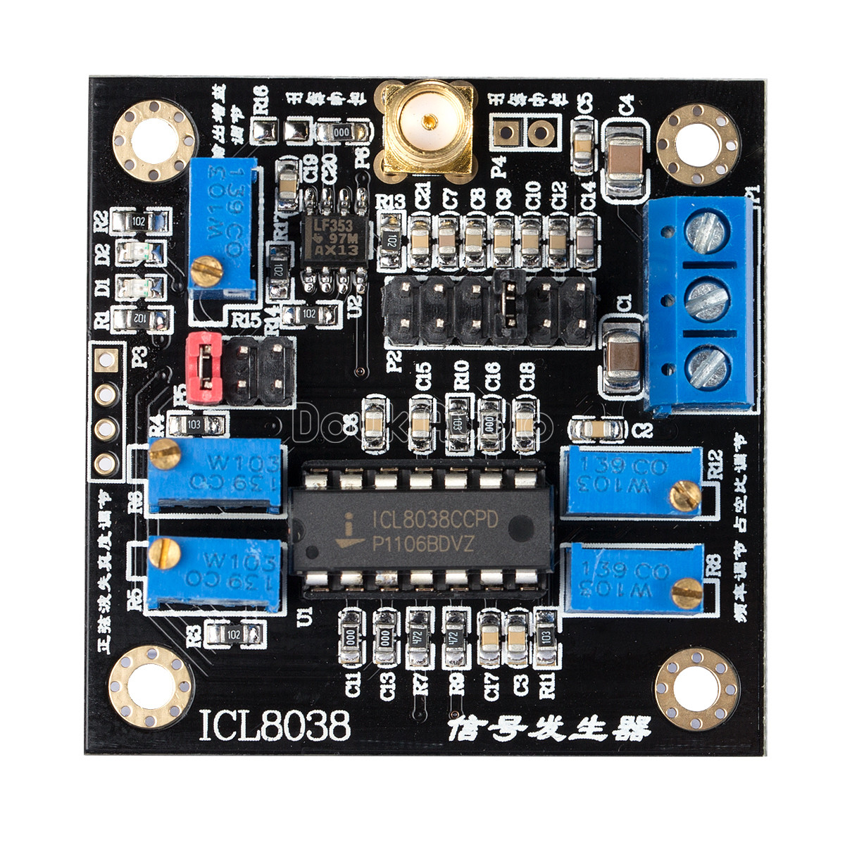 Icl8038 Low Frequency Signal Generator Module Sine Square Triangle Triangular Wave Circuit Sources