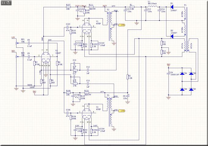 hifi 6sn7 12ax7 amplificatore per cuffia valvolare tube classe a preamplificatore audio stereo
