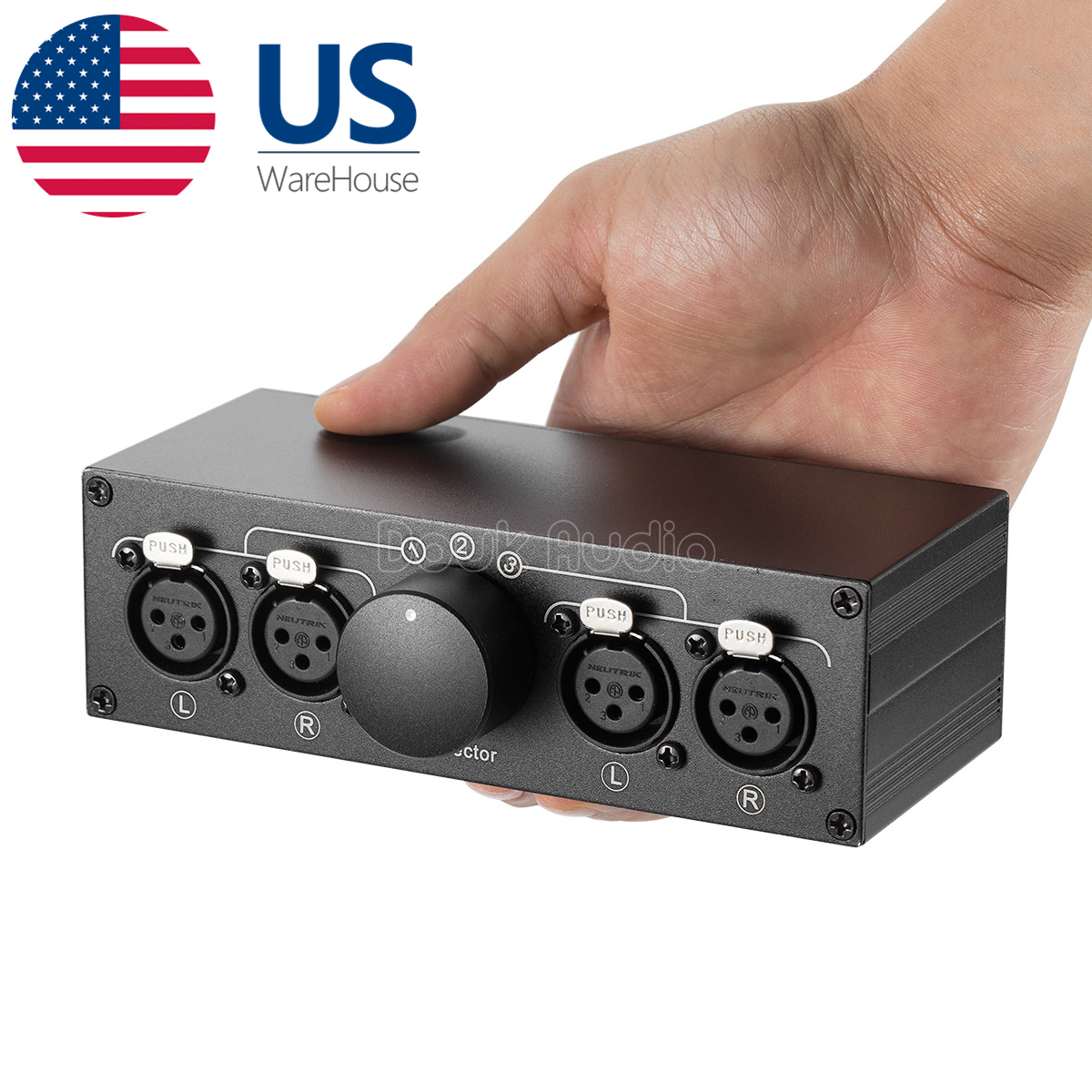 Details about Mini 3-way XLR Balanced Line Selector Audio Switcher Box  Splitter Distributor