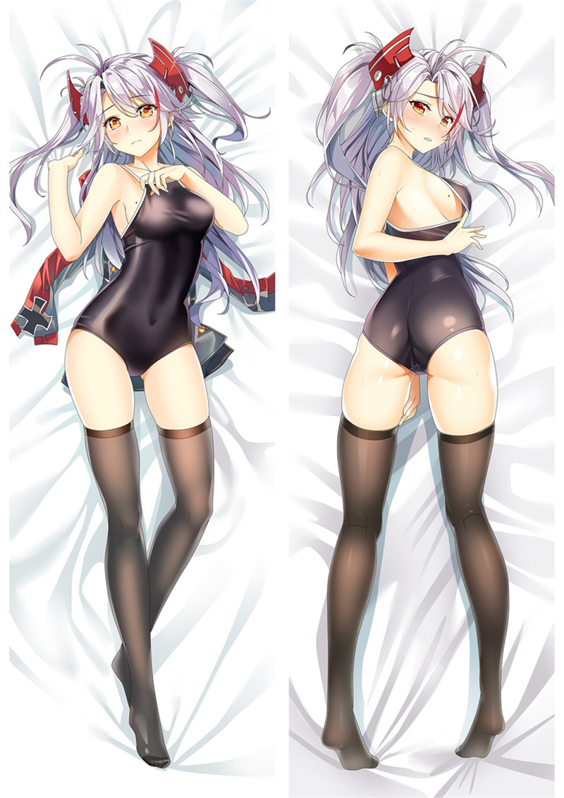 150x50cm Azur Lane Dakimakura Prinz Eugen Anime Girl Hugging Body Pillow Case 17
