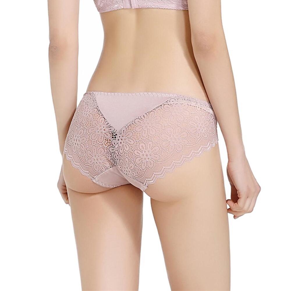 Damen Reine Seide Jersey Slips Unterhosen mit Spitze Schlüpfer