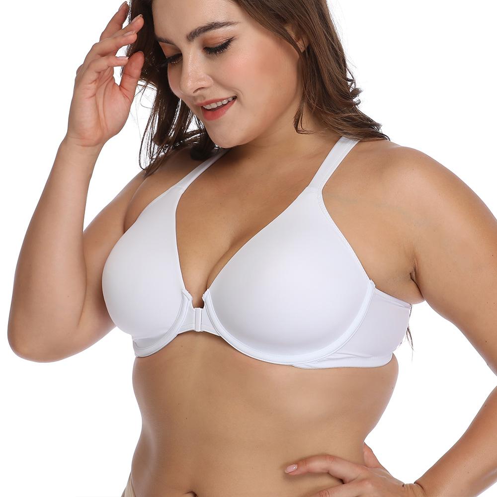 67ed6f302ce Women s Underwire Bra Plus Size Bra 34-48 BCDEFG Front Closure Full  Coverage Bra