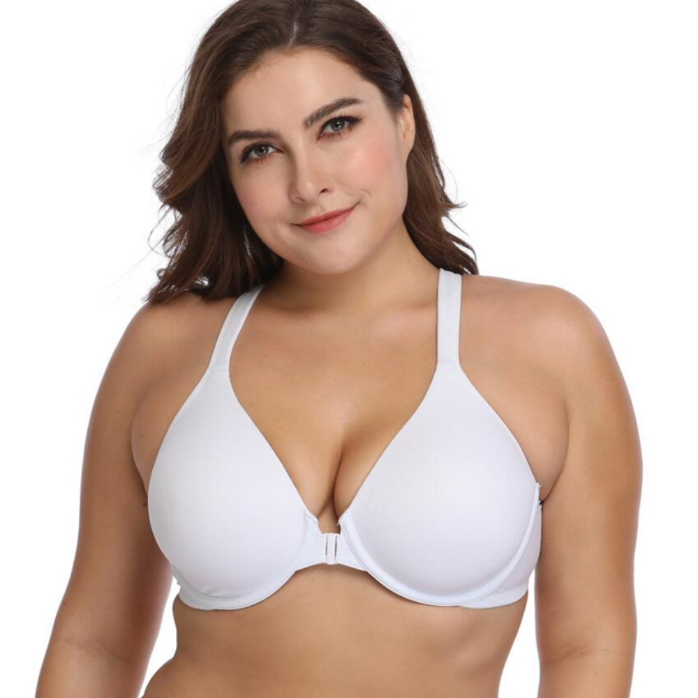 865ac96928ef5 Details about Sexy Front Closure Bras Push Up Racer Back Bra Full Coverage  Underwire Underwear