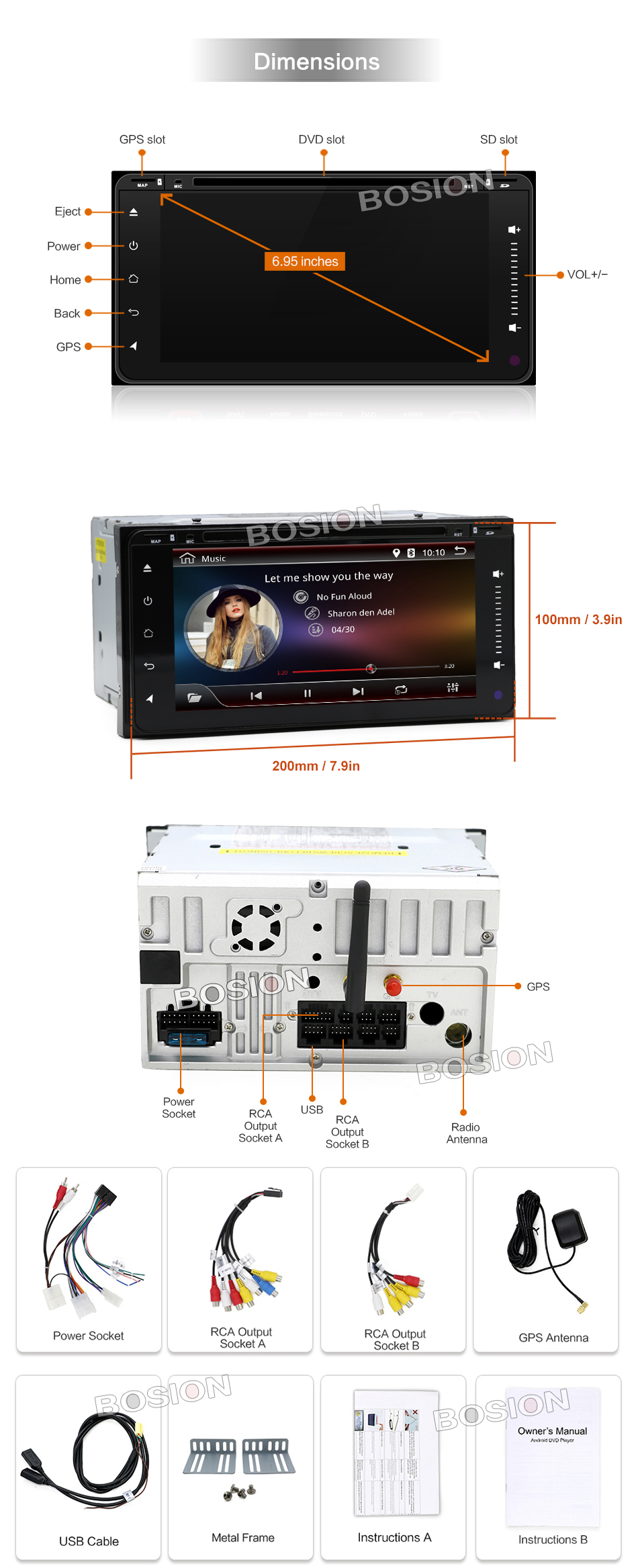 6 95 Quot Toyota Car Stereo Radio Android Navi Gps Wifi