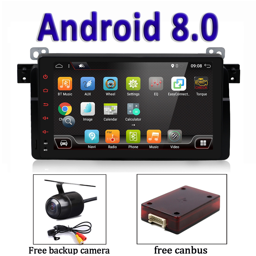 Details about Android 8 0 Car Stereo GPS Head Unit Navi Bluetooth 4G WLAN  For BMW 3 Series E46