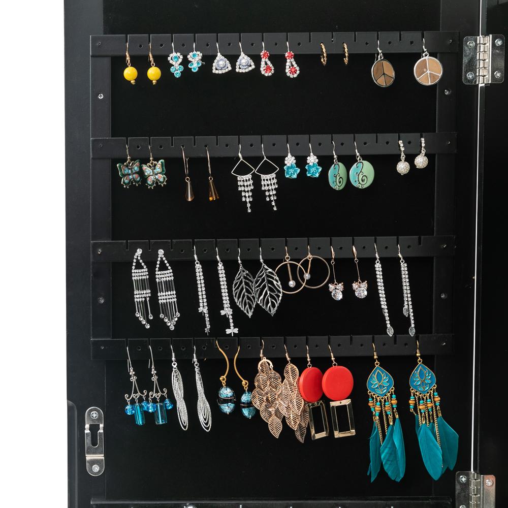 Mirrored Jewelry Cabinet Armoire Mirror Organizer Storage ...