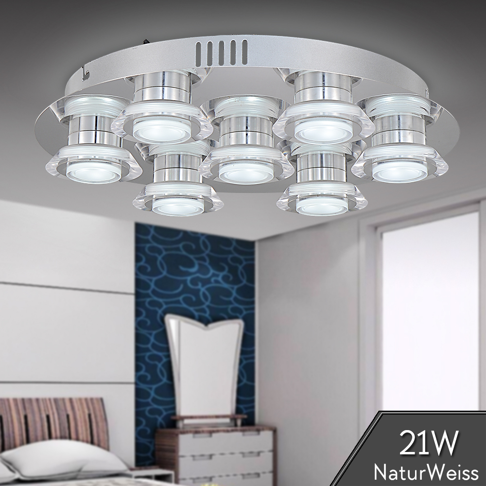 LED Deckenlampe Deckenleuchte 21W Rund modern Naturalweiß ...