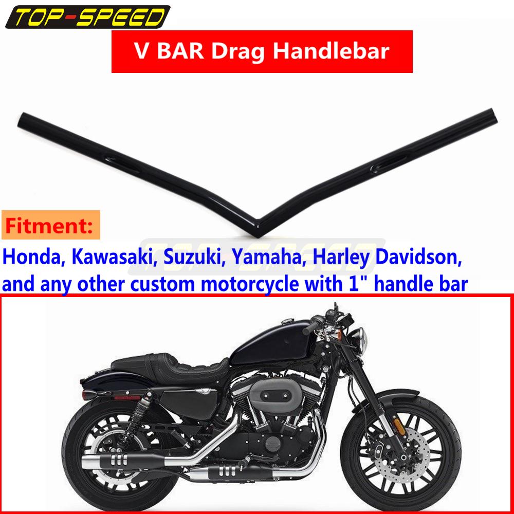 "Motorcycle 1/"" Drag Bar Handlebar For Harley Sportster XL 883 1200 Softail 07-Up"
