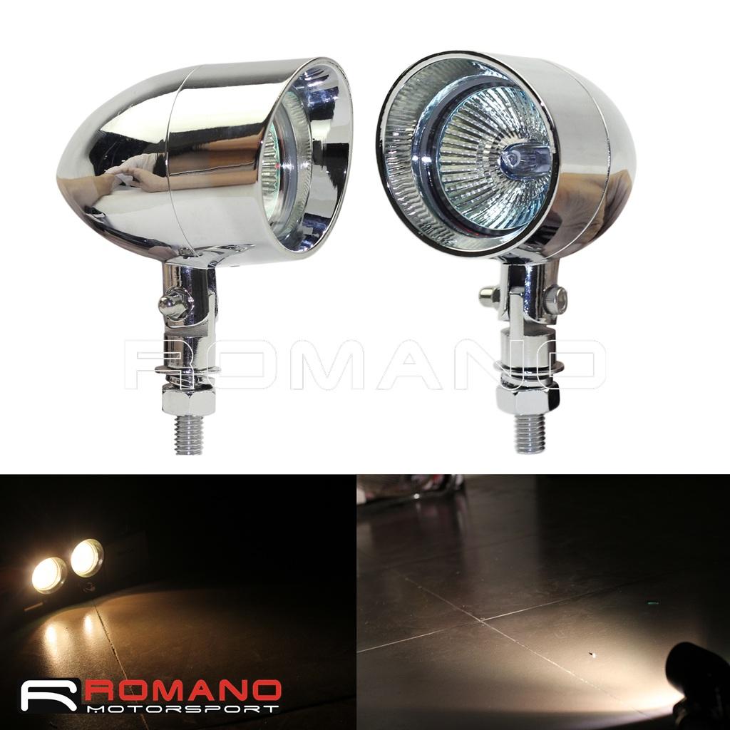 Hard-Working 4″ Motorcycle Bike Chrome Bullet Headlight Spot Fog Lamp Bulb For Harley Chopper Outdoor Lighting Lighting Strings