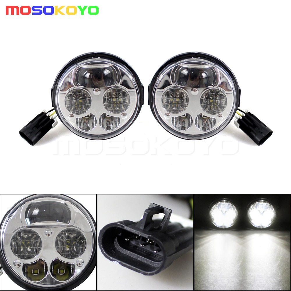 PAIR FOR HONDA PIONEER BLACK HIGH LOW BEAM H4 LED HEADLIGHTS KIT PIONEER 1000