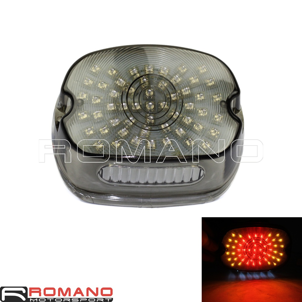 Smoky Rear Turn Signal Lamp Taillight For Harley Softail ...