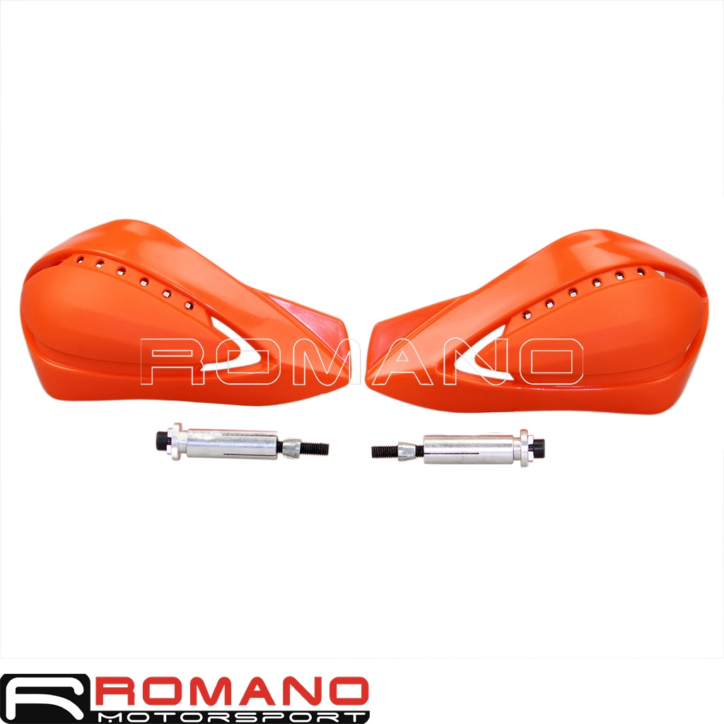 Turn Signal LED Brush Handle Bar Hand Guard Protector Universal Orange For KTM