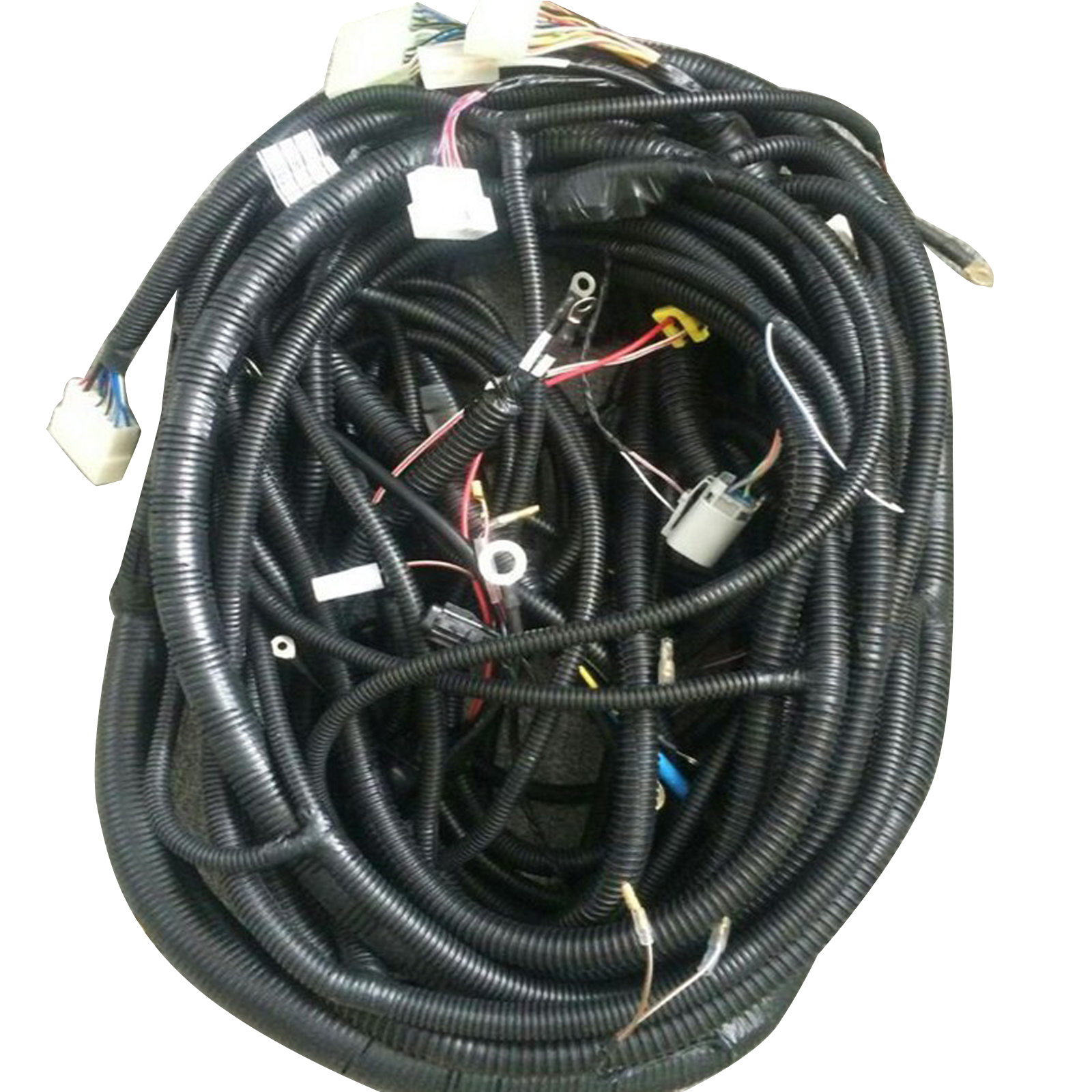 Details about Complete Wiring Harness For Daewoo Doosan DH220-7 Excavator on fall protection harness, oxygen sensor extension harness, electrical harness, pony harness, engine harness, cable harness, nakamichi harness, maxi-seal harness, amp bypass harness, pet harness, suspension harness, radio harness, obd0 to obd1 conversion harness, dog harness, battery harness, alpine stereo harness, safety harness,