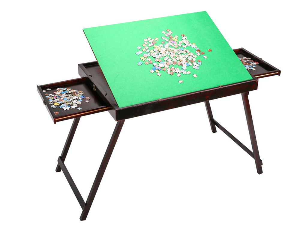 Super Folding Wooden Tilting Jigsaw Puzzle Storage Table