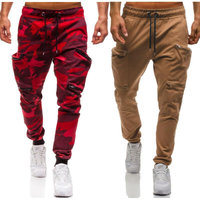 Men Casual Pants New Camouflage Slim Fit Army Camouflage