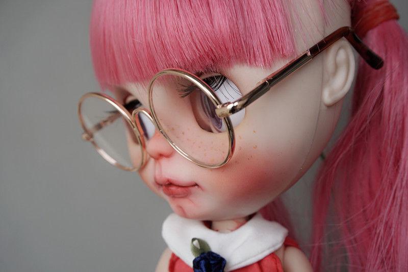 "Dark Brown Glasses Round For 12/"" TAKARA Neo Blythe Doll G/&D"