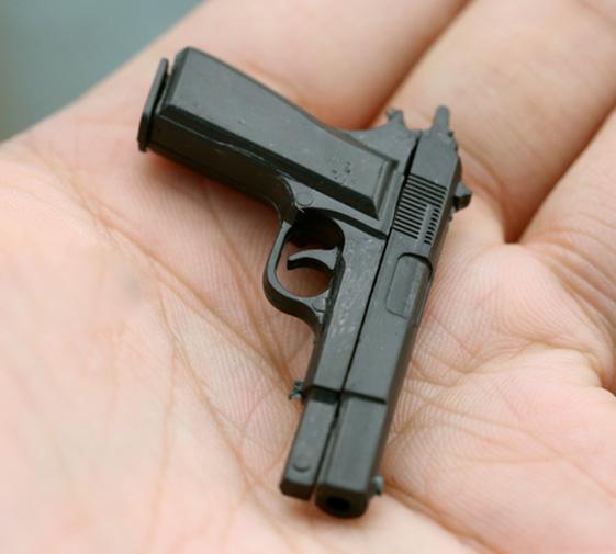 "MIni Weapon Pistol Prop Browing Fit 12/"" 1:6 Action Figure Model 1//6 3A HT PHICEN"