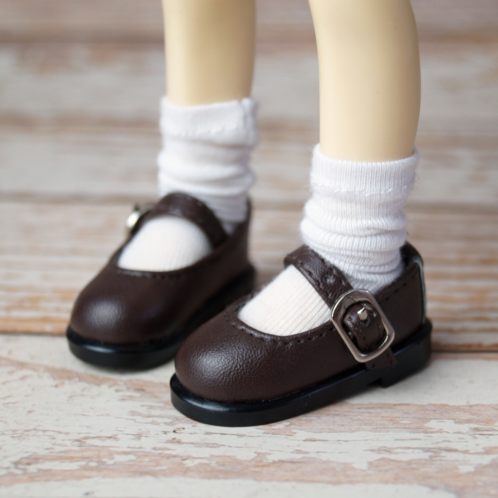 "Brown Flats Shoes Synthetic Leather For 1//6 11/""  BJD YOSD DK DD DZ DOLL"
