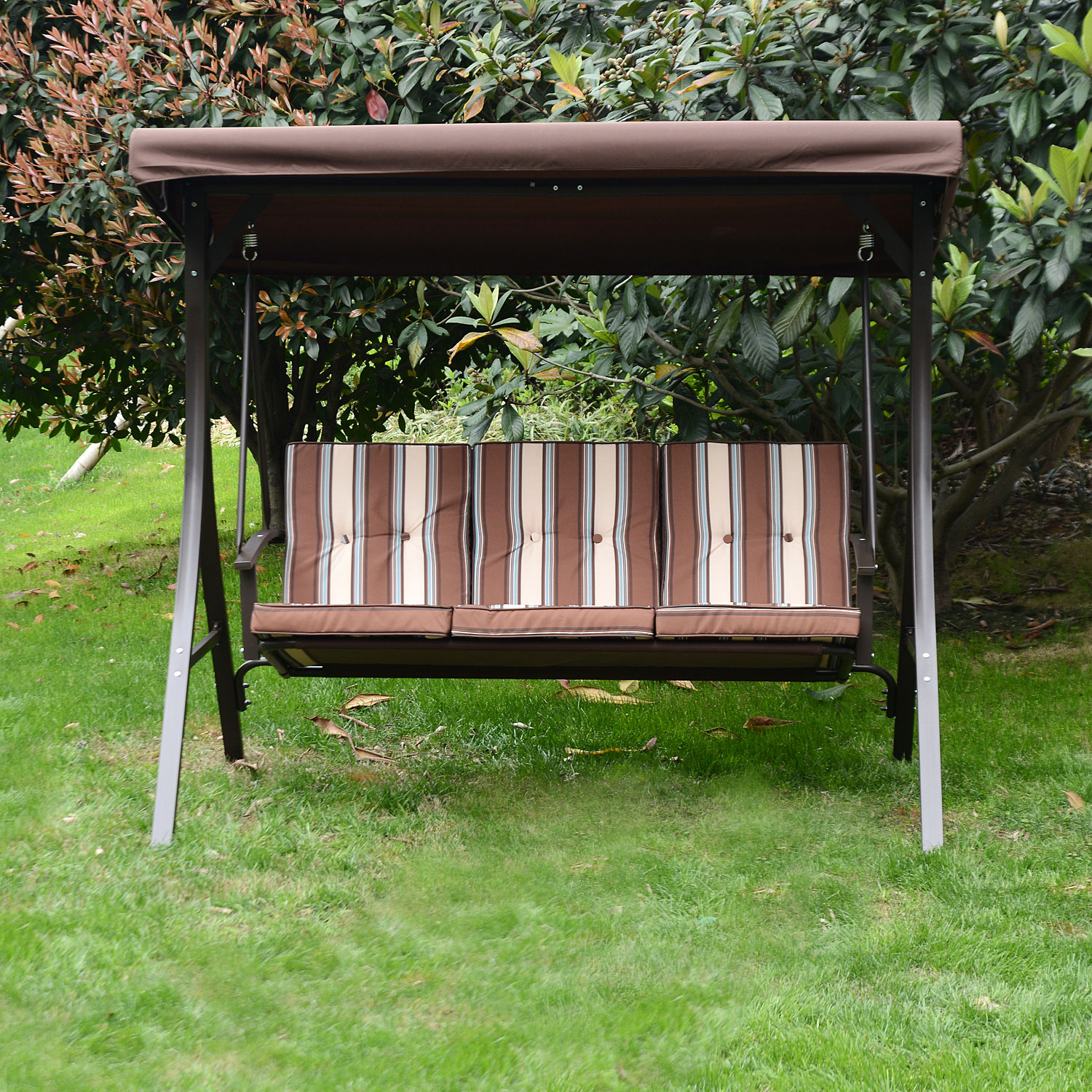 Swing Chair Canopy Outdoor 3 person Lounge Patio Backyard Seat Beach Furniture
