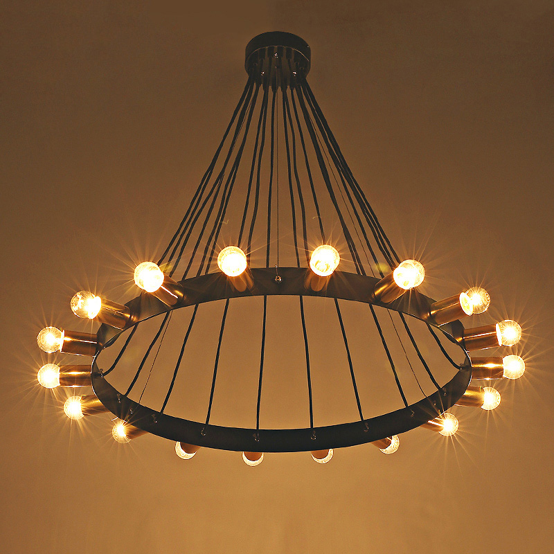 Details About Vintage Farmhouse Wrought Iron Chandelier Retro Barn Pendant Lights