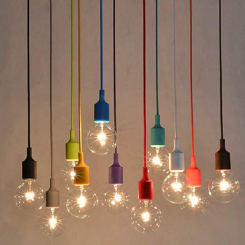 Details About Silicone Color Diy Pendant Light Vintage Hanging Ceiling Lamp Fixture