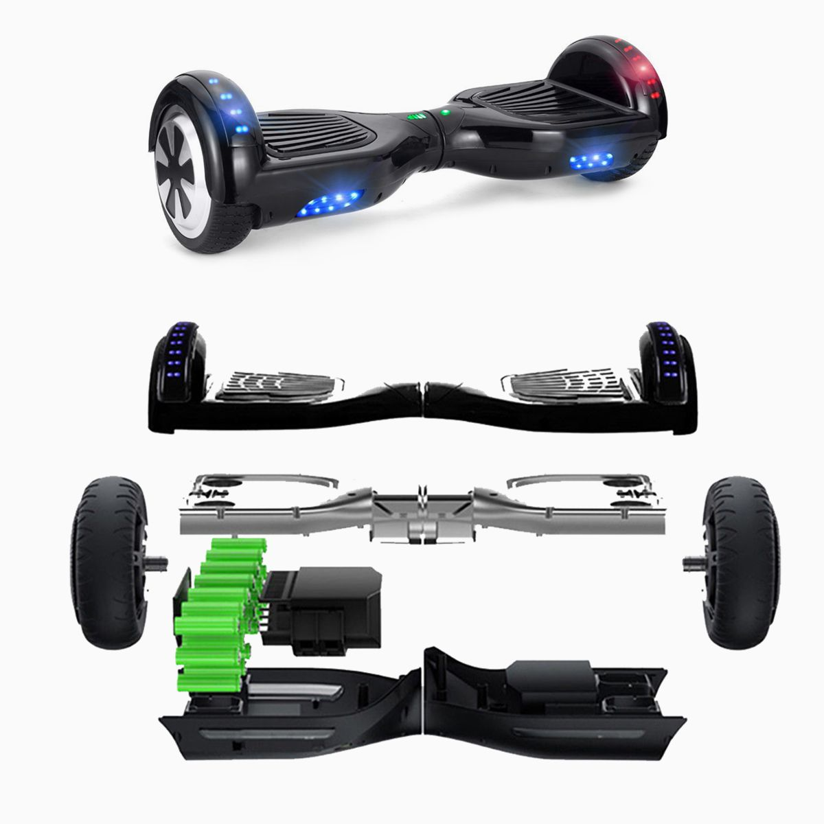 6 5 smart roller elektro scooter balance board skateboard. Black Bedroom Furniture Sets. Home Design Ideas