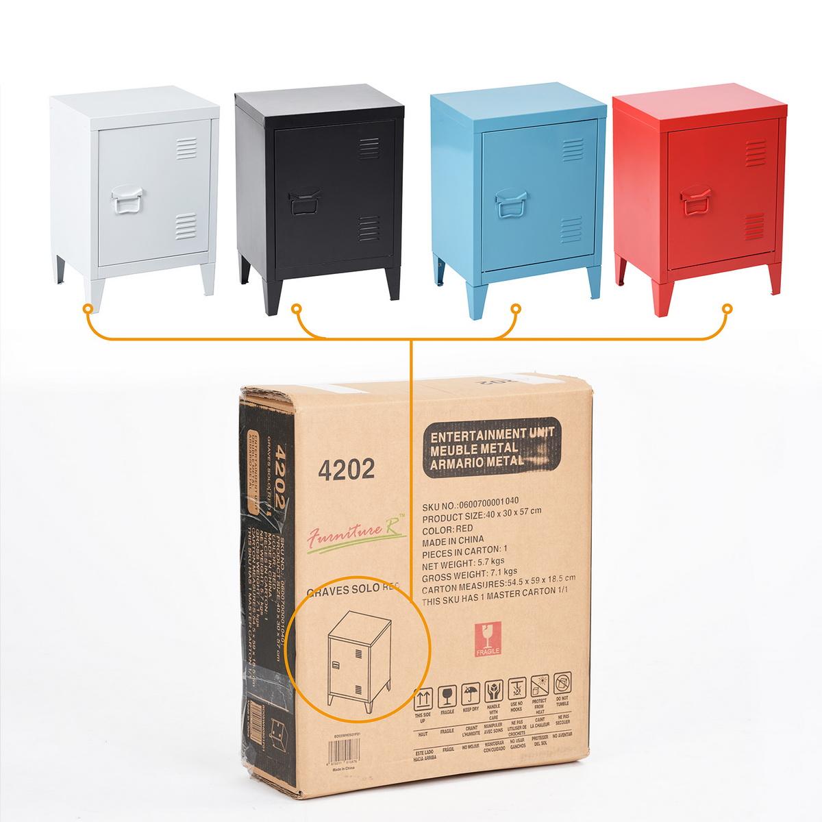 Locker Organizer Side End Table Office File Storage Metal Cabinet Cupboard Unit