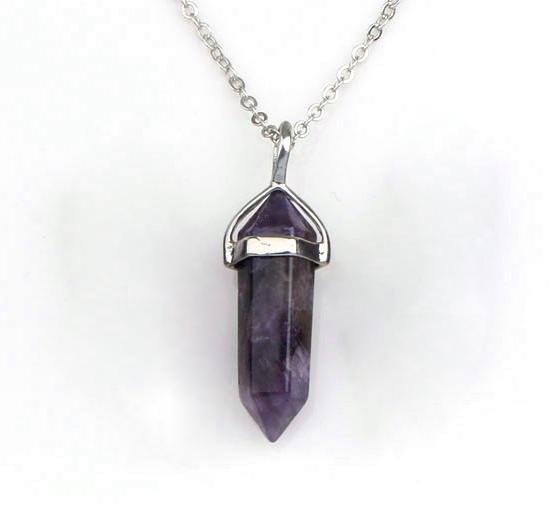 Gemstone rock natural crystal quartz healing point chakra stone gemstone rock natural crystal quartz healing point chakra stone pendant necklace aloadofball Gallery