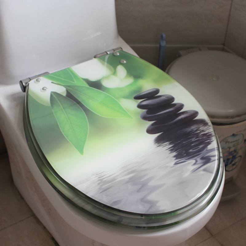 Awesome Details About D34 Water Wave Pattern Urea Resin Bathroom Accessories Safety Toilet Seat Lid Q Bralicious Painted Fabric Chair Ideas Braliciousco