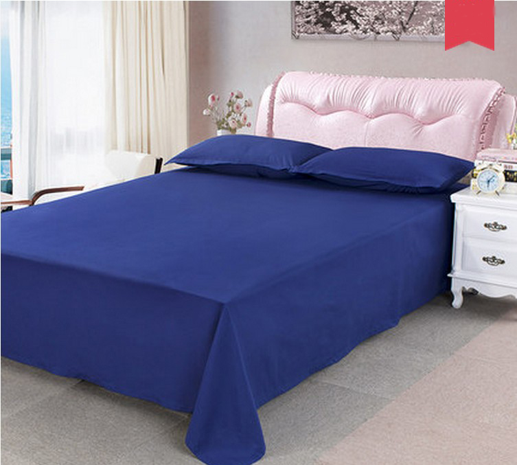Captivating Blue Dormitory Soft Double Bed Sheet Cover Coverlet Bedding 180CM*240CM .