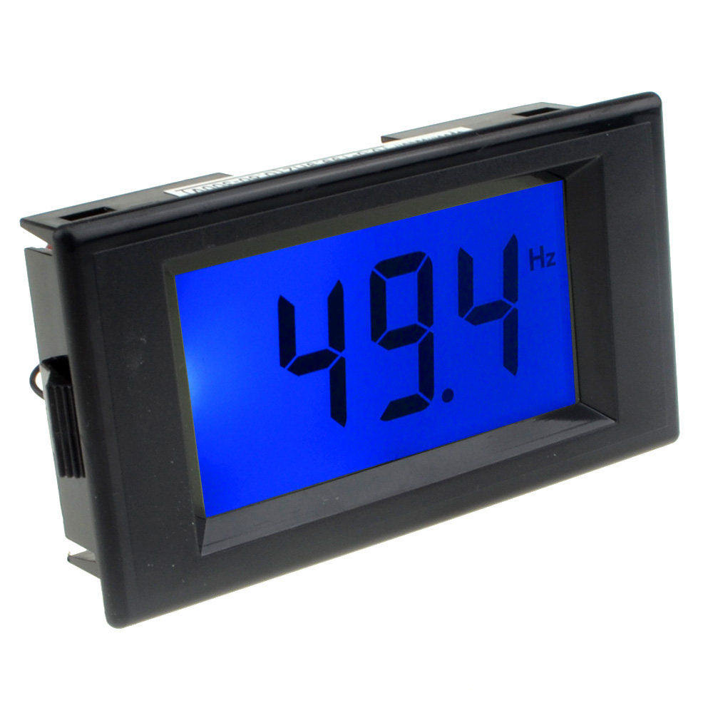 Two wires AC 80-300V 10-199.9HZ Digital Frequency Counter Cymometer Frequency Monitor Tester Panel Gauge 3 Digits Blue Backlight LCD Display