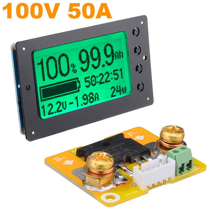 DC12-100V 350A Battery Capacity Tester Voltage Current Indicator Coulomb Counter
