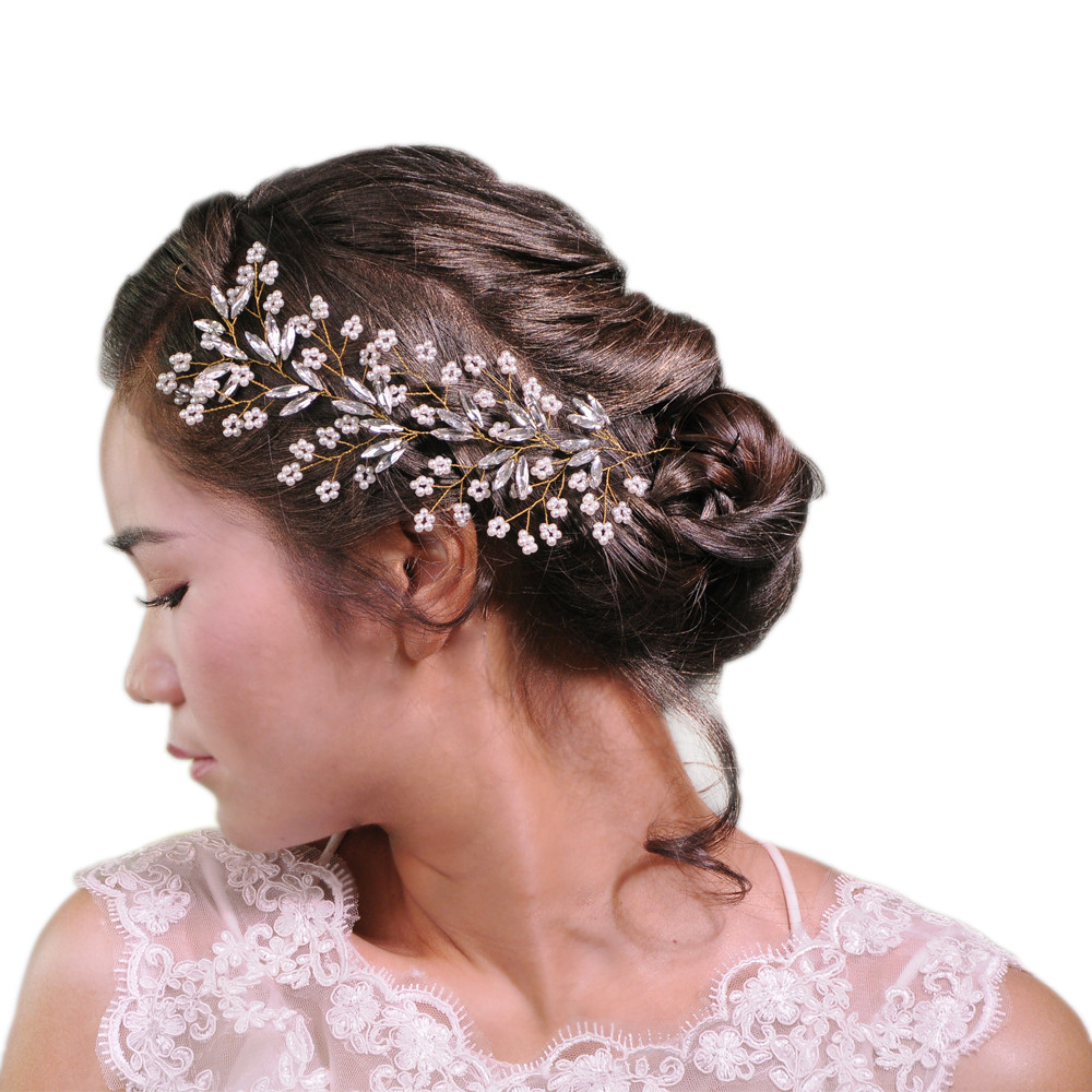 bride wedding hairband hair comb crystal bridal hair accessories