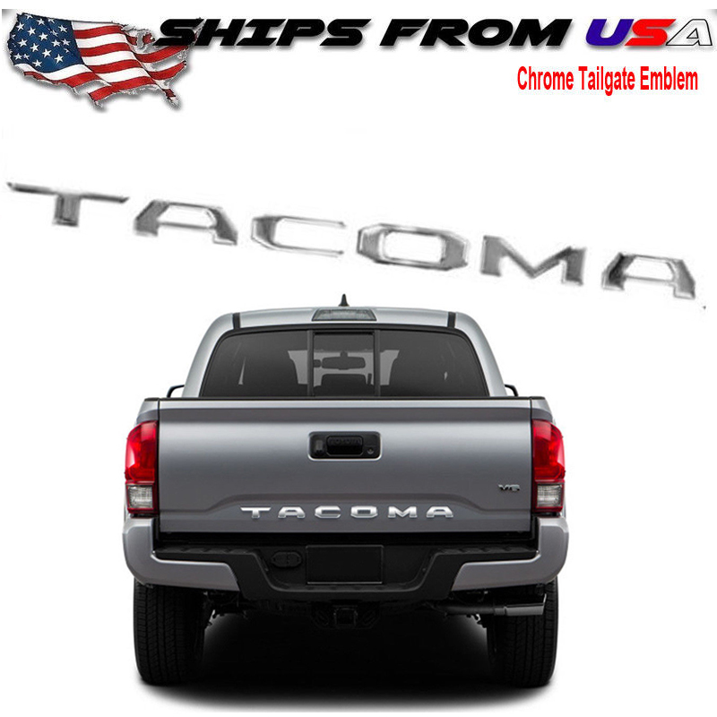 Tailgate Rear Stainless steel Letters Inserts for Toyota TACOMA 2016 2017 2018