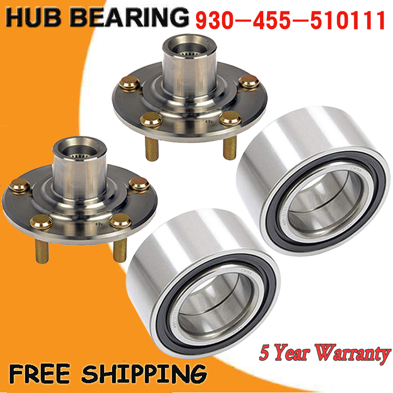 Set Of 2 FRONT WHEEL HUB & BEARING FOR 2013-2018 ACURA ILX