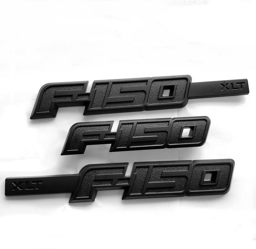 3x OEM Black F150 Ecoboost Emblems Side Fender F150 Tailgate Badges 3D Logo Replacement for F-150 Red