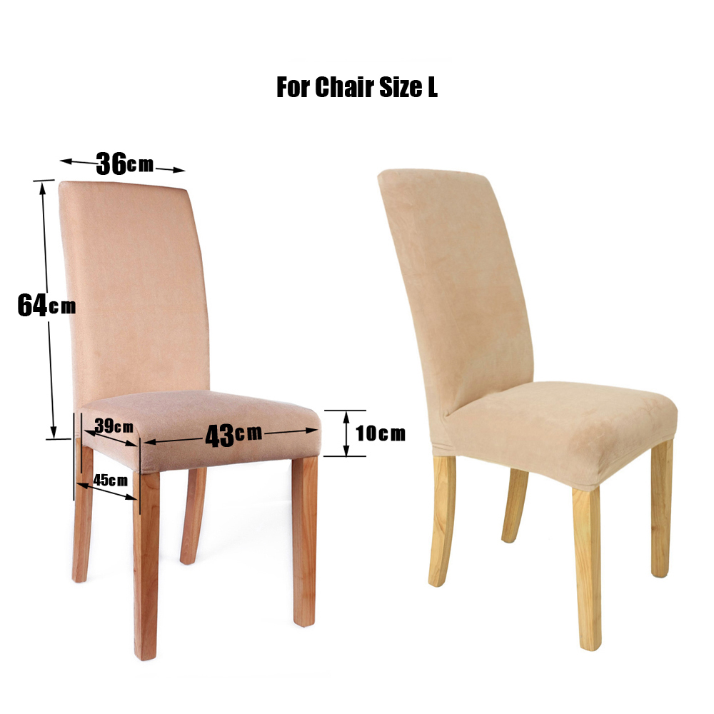 4pcs Comfy Stretch Short Dining Room Chair Cover Protective Removable Covers UK