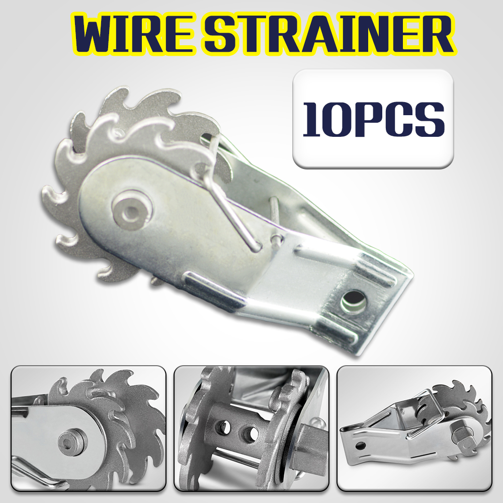 10x Inline Ratchet Wire Strainer Fencing Electric Tensioner Repair ...