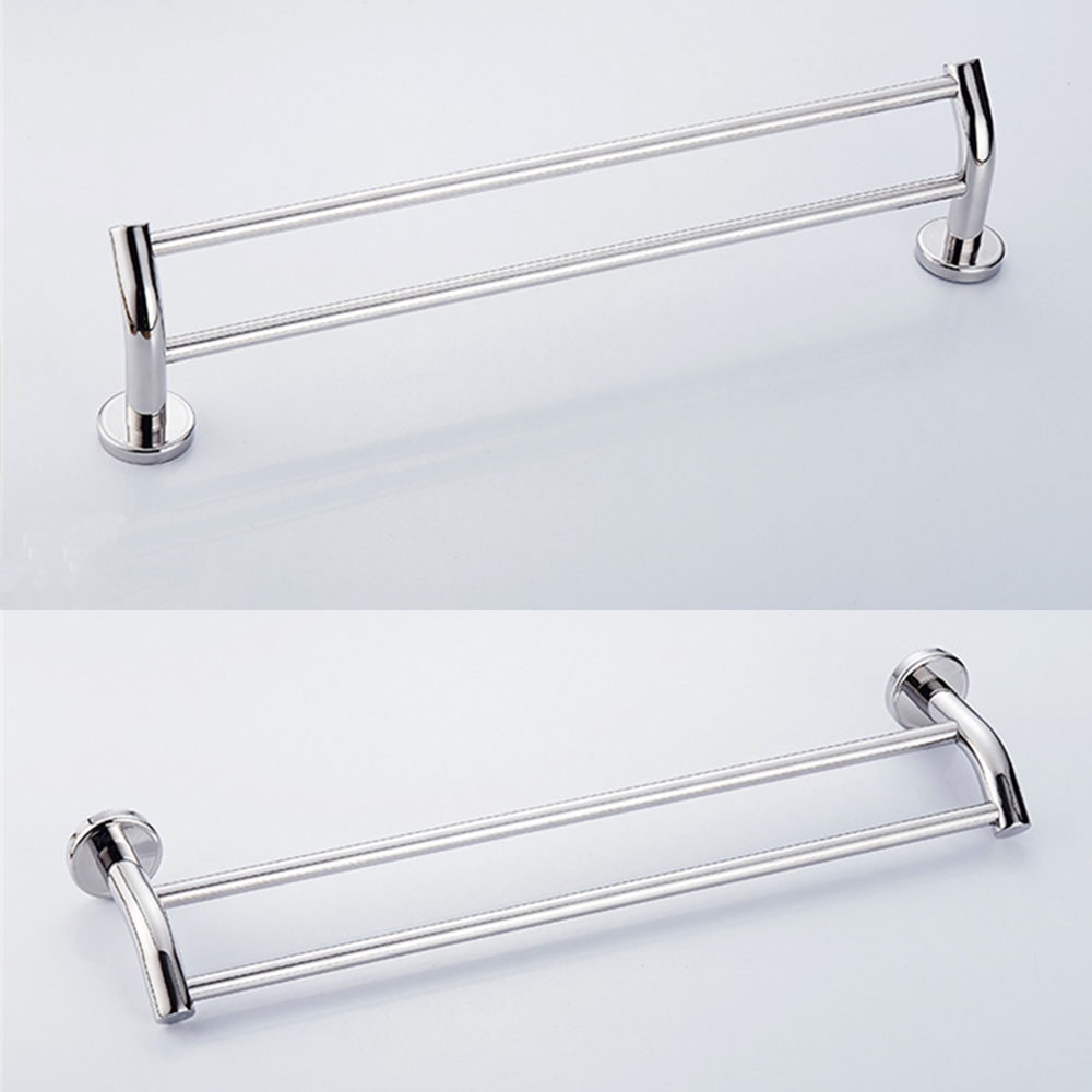 Bathroom Towel Rack Kit: 1M Double Towel Rail Rack Bathroom Hanger Wall Mount 304