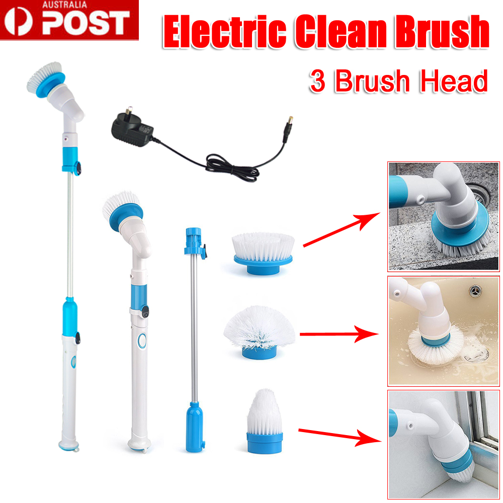 Turbo Spin Scrub Cleaning Brush Mop Bathtub High Tile Floor Scrubber Hurricane